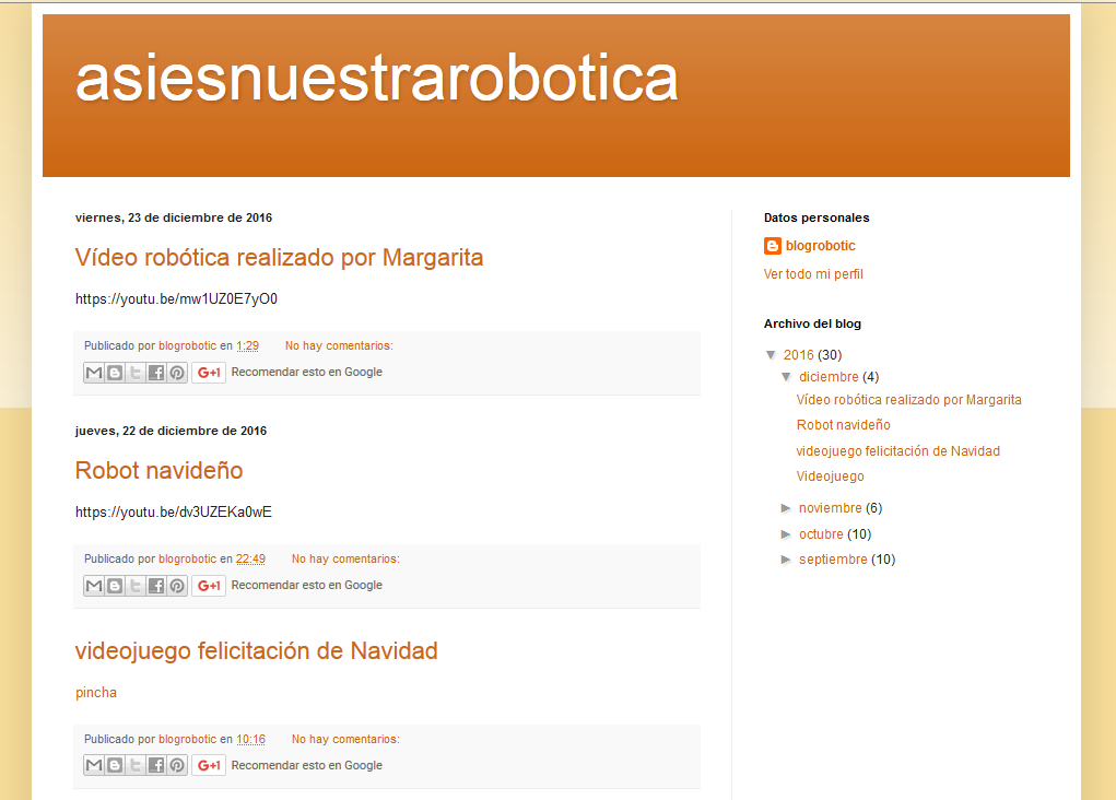 Blogs de Robótica