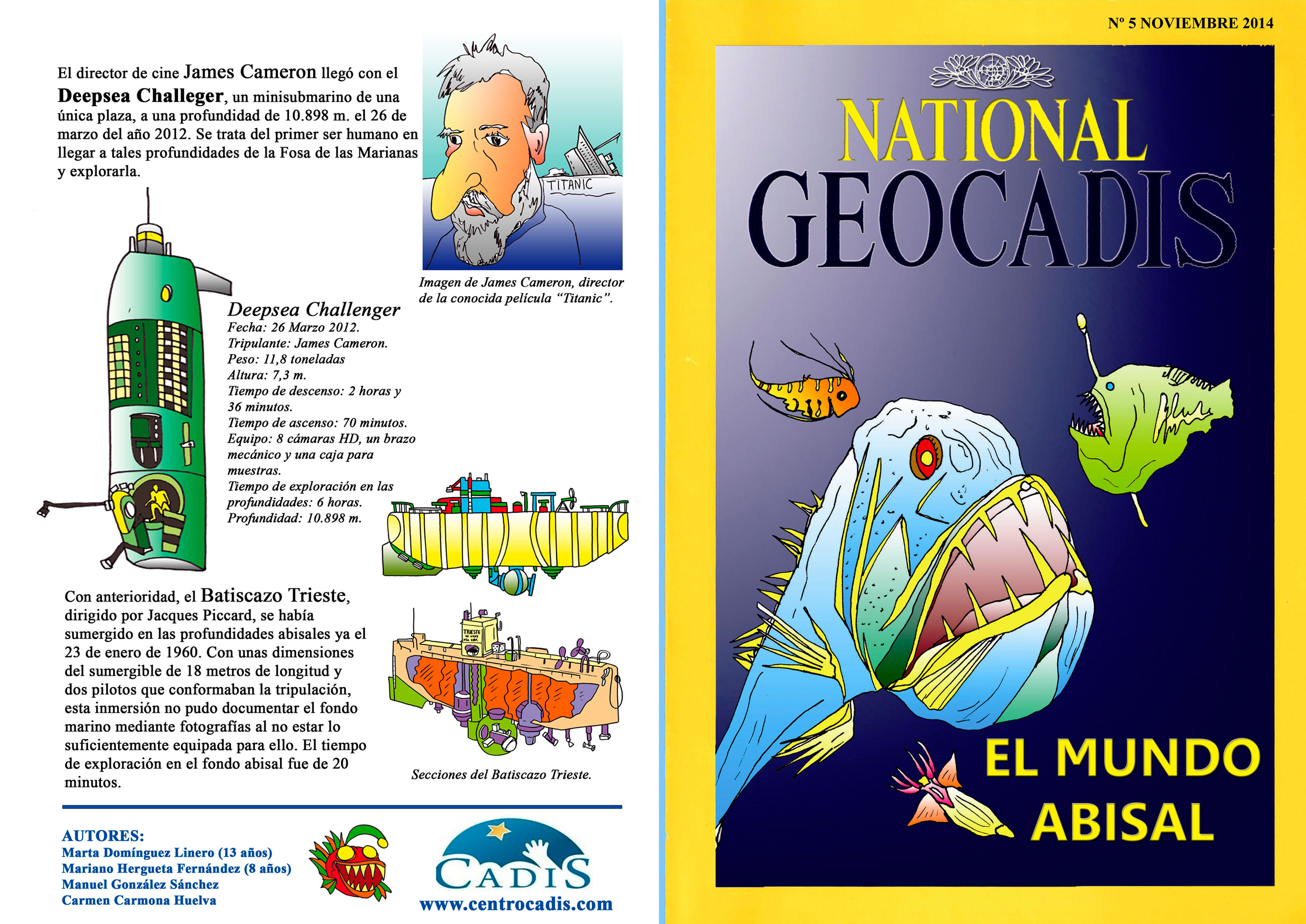Exterior de la revista National Geocadis del Centro CADIS