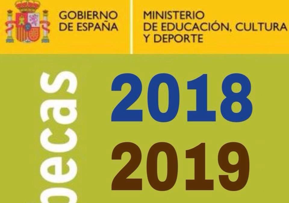 Abierta la convocatoria de Becas 2018/2019